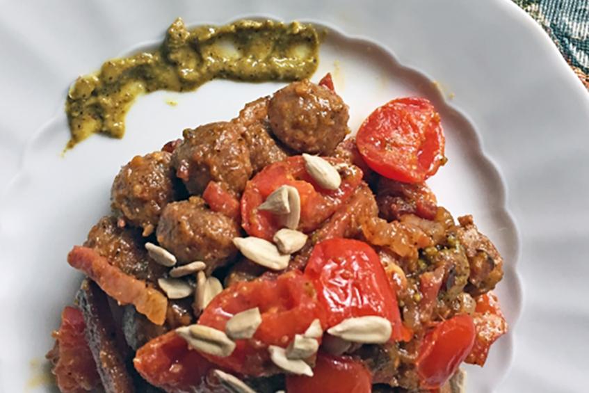 Ricetta Per Gnocchi Integrali.Cucina Gnocchi Di Farina Integrale Con Sugo Di Pistacchi Eurosalus